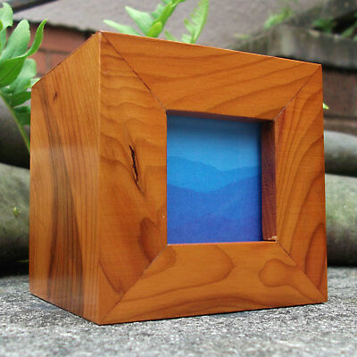 Photo or Picture Frame with Drawer - Small 3 Inch Square with Wood Options