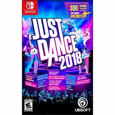 Just Dance 2018 (Nintendo Switch NS, 2017) - Brand New