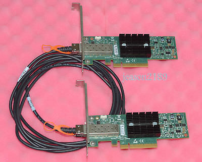 MNPA19-XTR 10GB Network Kit Mellanox ConnectX-2 10Gbe NIC 10GBe 3m SFP+ Cable