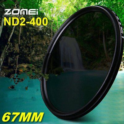 Zomei 67MM Slim Adjustable Neutral Density Fader filter ND2-400 Camera Filters H