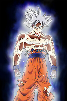 Dragon Ball Super Poster Goku Ultra Mastered 12inx18in Free Shipping