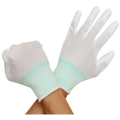 1 Pair ESD PC Computer Working Anti-skid Anti Skid Anti-static White Gloves Y6I0