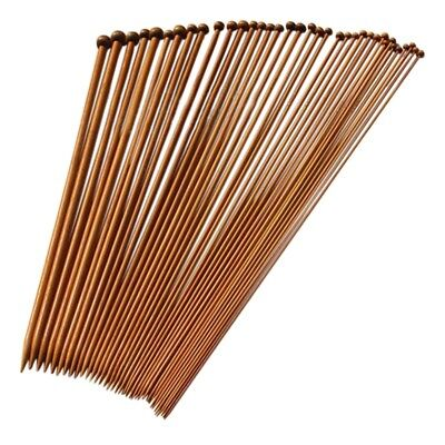 36 single pointed knitting needles made of bamboo, size of 18 kinds of carb L2Y4