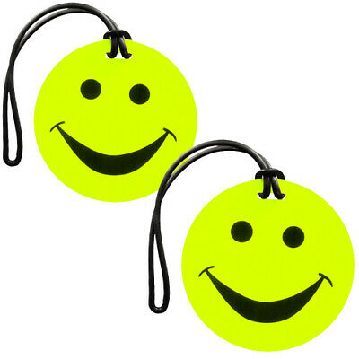 Edge Smiley Face Luggage Tags - Twin Pack- BRAND NEW!