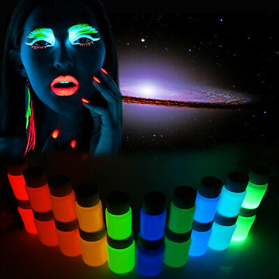 Glow in the Dark Face Body Paint Party Fluorescent Pigment Party Makeup Costumes