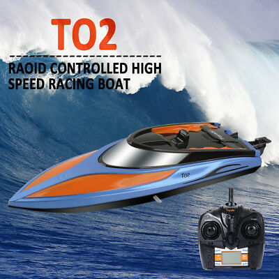 2.4G Outdoor Water Cooling High Speed RC Self Right Racing Boat +2 LED Batteries