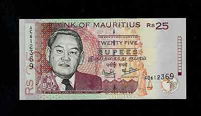 MAURITIUS  25 RUPEES 1999  AC  PICK # 49a UNC BANKNOTE.