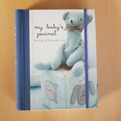 My Baby's Journal - Blue (Boy) 1st Year Diary Keepsake Book From Birth
