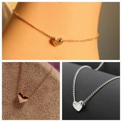 Elegant Simple Short Golden Love Necklace Clavicle Chain Fashion Heart Necklace