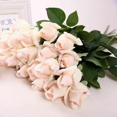 Silk Latex Artificial Rose Real Touch Fake Flower Wedding Party Home Decor 10 20