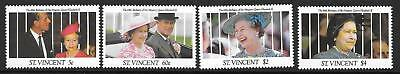 ST.VINCENT SG1686/9 2992 65th BIRTHDAY OF QUEEN ELIZABETH  MNH