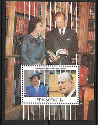 ST.VINCENT SGMS1690 1991 65th BIRTHDAY OF QUEEN ELIZABETH  MNH