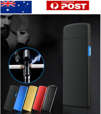 AU!! USB Rechargeable Electric Windproof Flameless Lighter Arc Cigarette Plasma