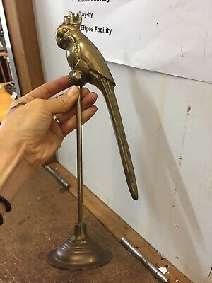 Vintage Detailed Brass Parrot Bird on the stand Animal Figurine Statue Ornament