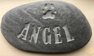 Deep handmade Pet Memorial stone, plaque, dog, cat, grave marker, marker
