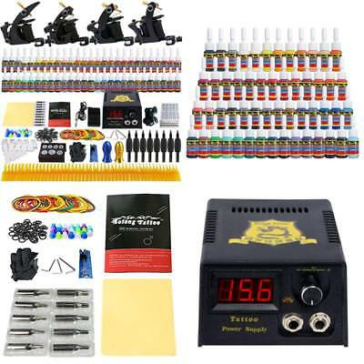 Beginner Complete Tattoo Kit Pro Machine Guns Liner Shader Digital Power Supply