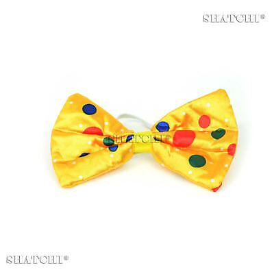Clown Bow Tie Spotted Polka Dots Fancy Dress Party Accessories Dress Up Fun