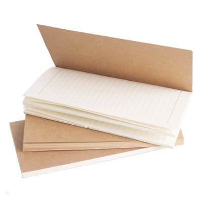 Journal Refills Pad Paper Set of 3 Inserts for Leather Notebook Diary 6.5 x 3.6'