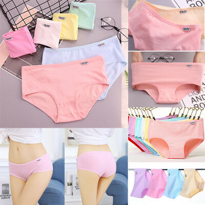 Women's Cotton Underwear Breathable Stretchy Briefs Panties Knickers Underpants