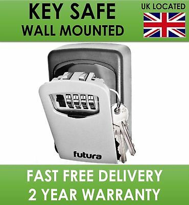 Key Safe Box 4 Digit Outdoor High Security Wall Mounted Code Secure Lock Storage