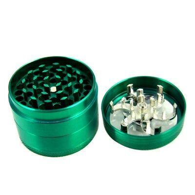4 Layers Magnetic 2.2 Inch Green Tobacco Herb Grinder Spice Zinc Alloy Crusher