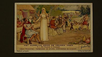 Advertising Liebig Card The Marriage In Germany