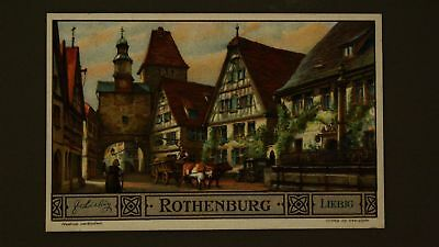 Advertising Liebig Card Rothenburg Modern Cities Having Old View
