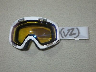 d9068416f8ad New Von Zipper Feenom White Gloss Yellow Chrome Lens Ski Snowboard Goggles