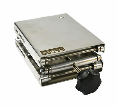 """Eisco Labs Stainless Steel Lab Jack - 6.5"""" x 5"""" Surface - 11"""" max height -"""