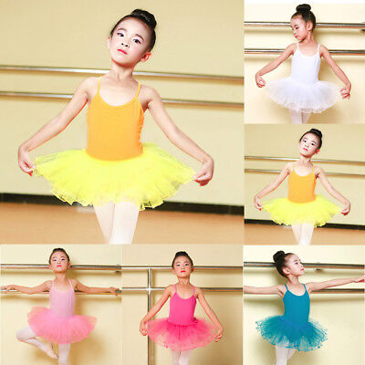 Toddler Girls Ballet Dress Tutu Leotard Dance Gymnastics Strap Clothes Lovely