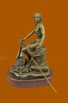 Roman Greek Ancient Lady Nouveau Art Mythology Bronze Sculpture Statue Figure T