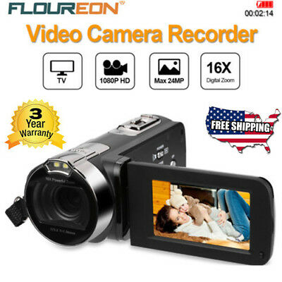 Portable HD 1080P Digital Video Camera Recorder LCD 24MP 16x Zoom Camcorder AV