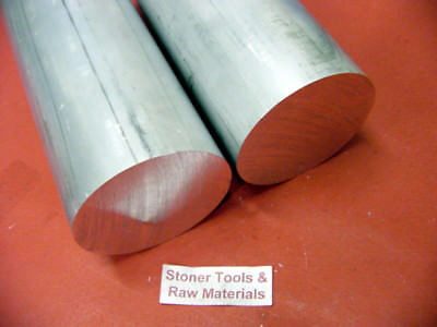 """2 Pieces 2"""" ALUMINUM 6061 ROUND ROD 24"""" long Solid T6511 LATHE BAR STOCK"""