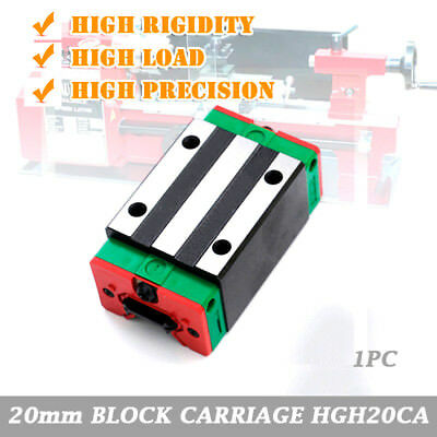 HIWIN 20mm HGH20CA Sliding Block Carriage for HGR20 Linear Guide Rail Way CNC