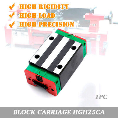 HIWIN 25mm HGH25CA Sliding Block Carriage for HGR25 Linear Rail Guide CNC Kit