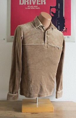 a0198b81a8 Vintage 70s Levis Bold Sweater Size Small Brown Shirt Disco Retro White tab  Mens