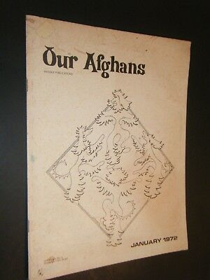 Our Afghans Weddle Publications Jan 1972 Photographs & Articles Kenneally Cover