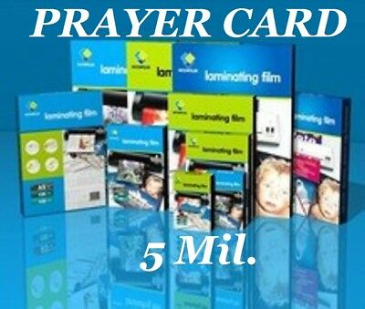 50 Prayer Card Laminating Laminator Pouches Sheets 5 Mil 2-3/4 x 4-1/2 Quality