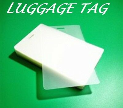 50 LUGGAGE TAG Laminating Pouches Sheets 2-1/2 x 4-1/4 5 Mil With Slot Quality