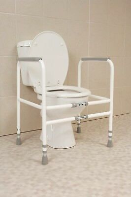 Free Standing Toilet Frame Support Adjustable Disabled Aid Raised Grab Elderly