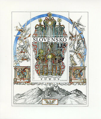 Slovakia 2017 MNH Reformation 500th Anniv 1v M/S Organs Angels Religion Stamps