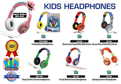 Kids Character Childs Boys Girls DJ Headphones for Cell Phones Tablets DVD iPod