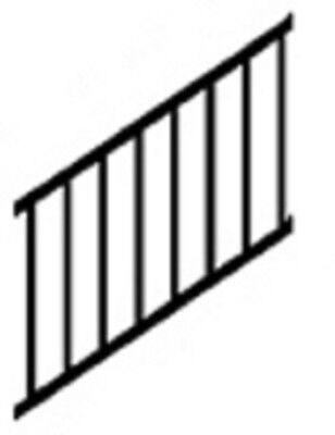 """6' Wide x 36"""" Tall Westbury Tuscany Crossover Stair Section Black C33"""