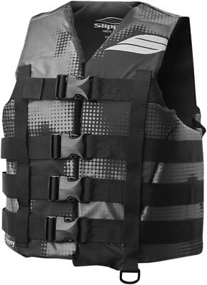 Slippery Wetsuits HYDRO Nylon Watercraft Vest/Life Jacket (Black/Gray) Pick Size