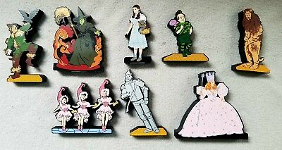 Shelia's Wizard of Oz characters hand painted Wood 3-D figure display retired
