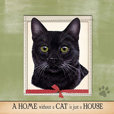 Black Cat Soft Couch Dog Breed Throw Pillow