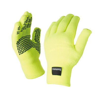 SEALSKINZ Unisex Sealskinz Ultra Grip Glove Hi Vis Yellow NEU