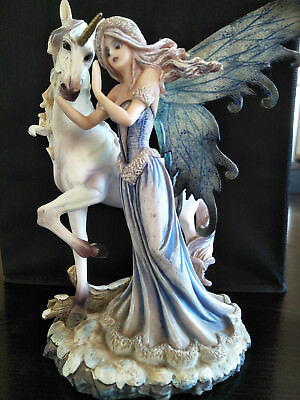 Unicorn and Fairy Figurine - Beautifully handpainted - Hard to get in Australia