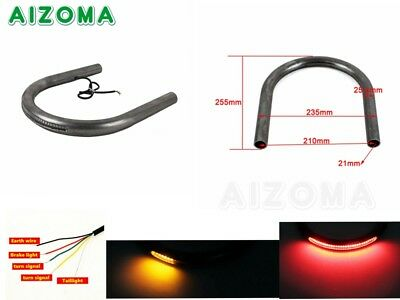 1'' Cafe Racer Rear Seat Frame Hoop Loop With LED Brake Turn Light For Yamaha XS
