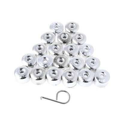 20Pcs Chrome ABS Wheel Locking Nut Bolts Cover Caps 17mm For VW Golf Passat Polo